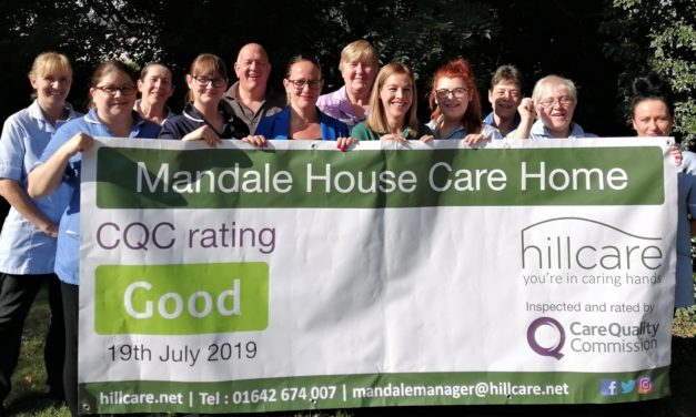 "Inspectors praise staff at ""Good"" Teesside care home"