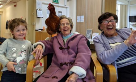 Penny the care home hen a hit with nursery children