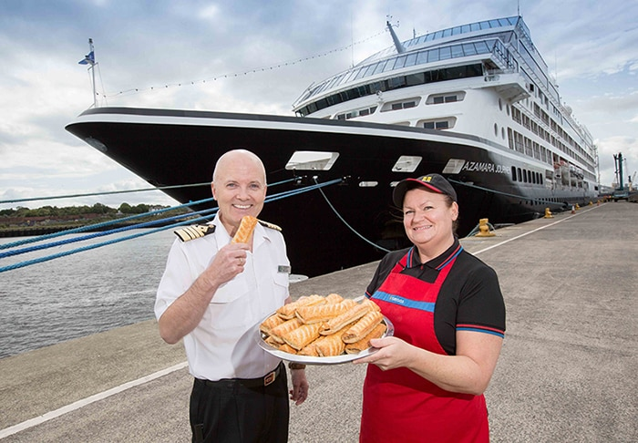CAPTAIN ORDERS BOAT LOAD OF GREGGS FOR LUXURY LINER