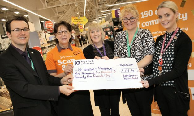Supermarket bags more than £9,500 for St Teresa's Hospice