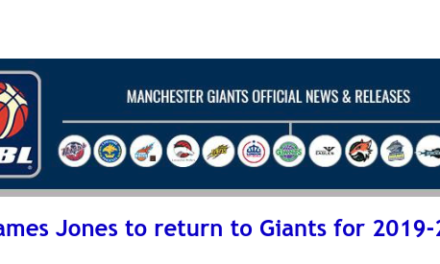 News from British Basketball League: James Jones to return to Giants for 2019-20