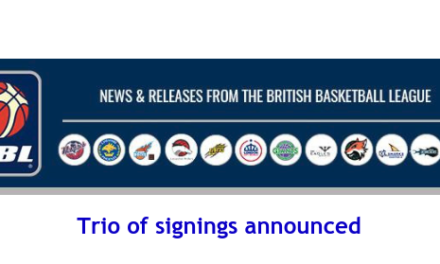 British Basketball League: Trio of signings announced