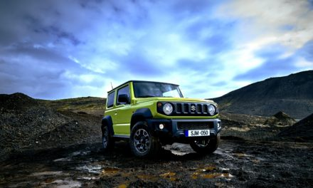 Standing out from the crowd in a lime green Suzuki Jimny