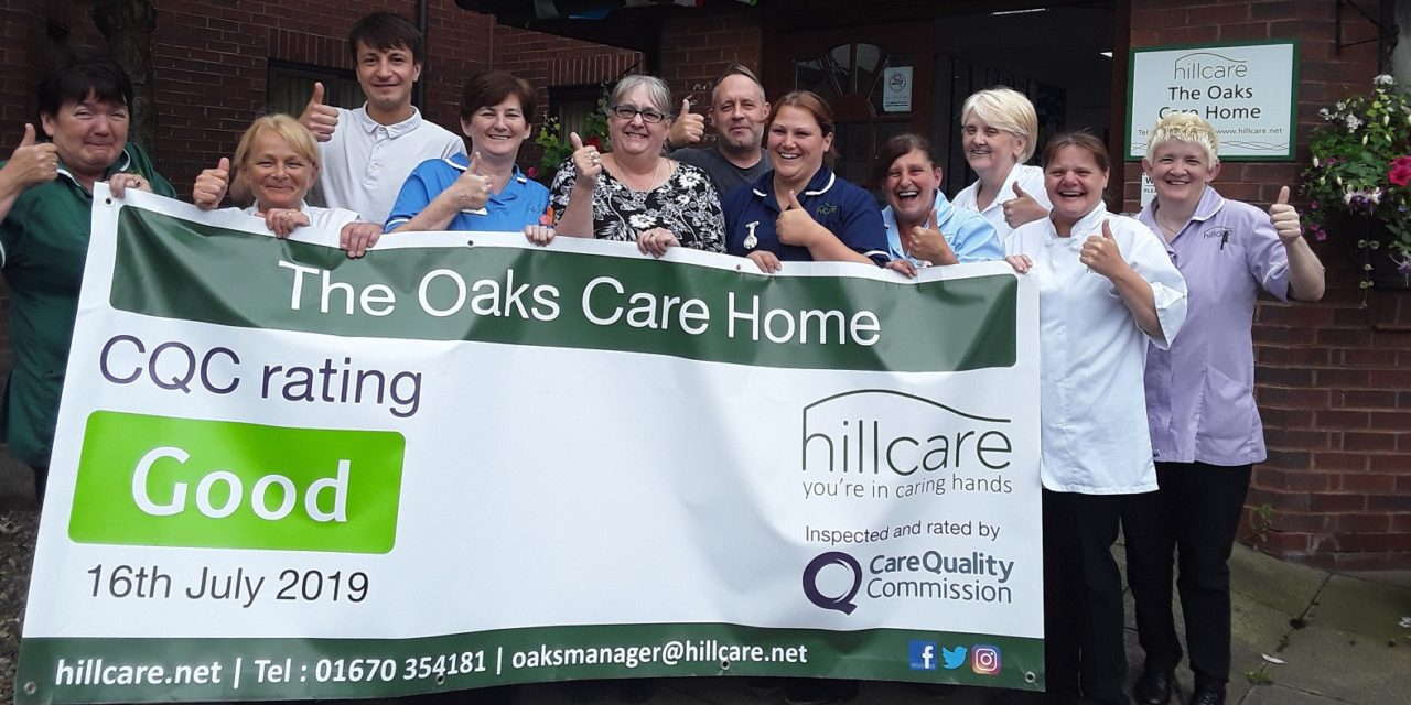 "Blyth care home given ""Good"" by industry watchdog the CQC"