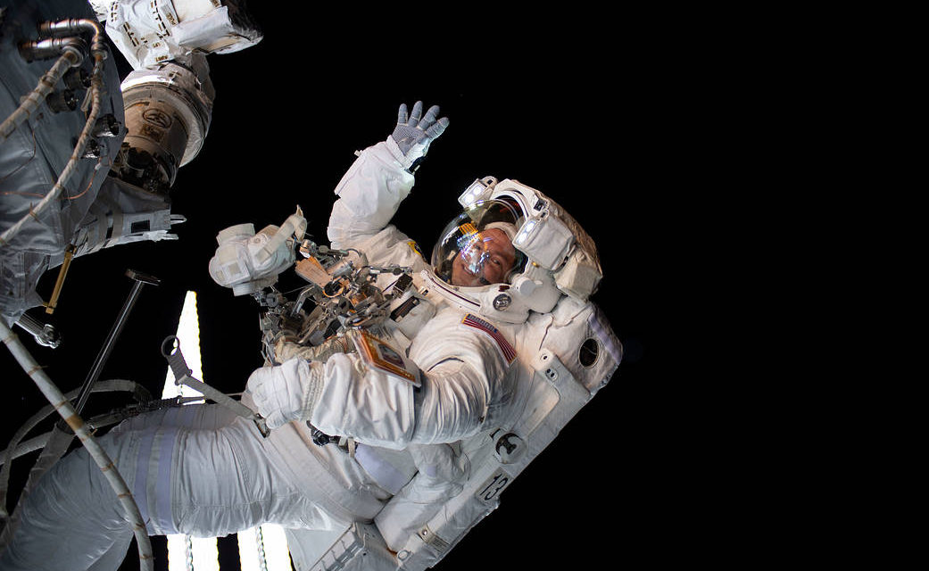 Astronaut Andrew Morgan Performs His First Spacewalk