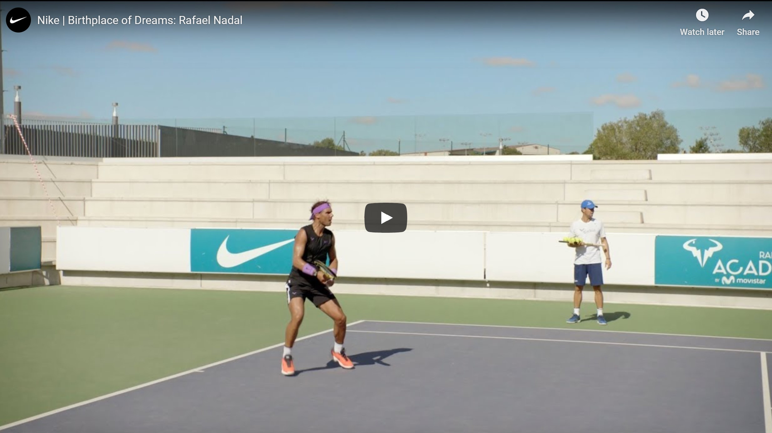 Nike Birthplace Of Dreams Rafael Nadal North East Connected