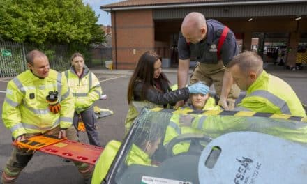 Student paramedics learn lifesaving skills during traffic crash exercise