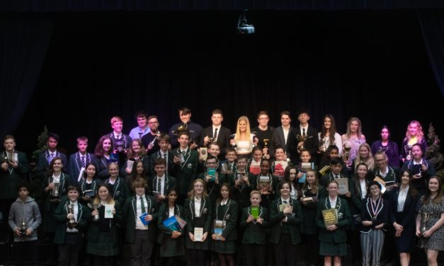Pupils honoured following school's best exam results in years