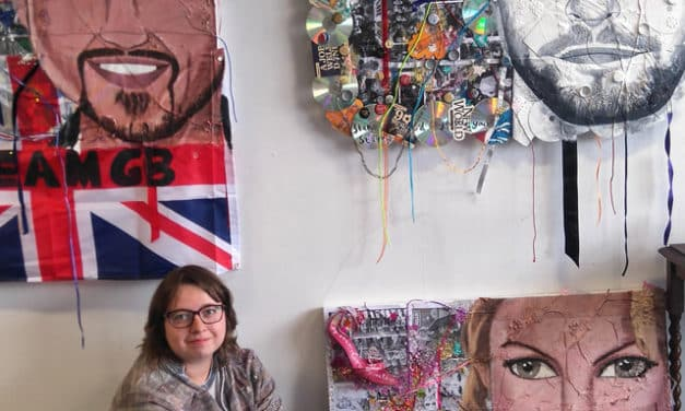 Unusual exhibition venue for artist and strictly fan Bethan