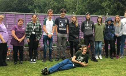"Teens get ""big pat on the back"" from elderly residents after renovating their garden"