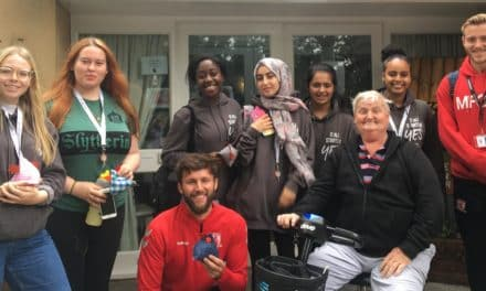 MFC Foundation students spend time with elderly and chickens