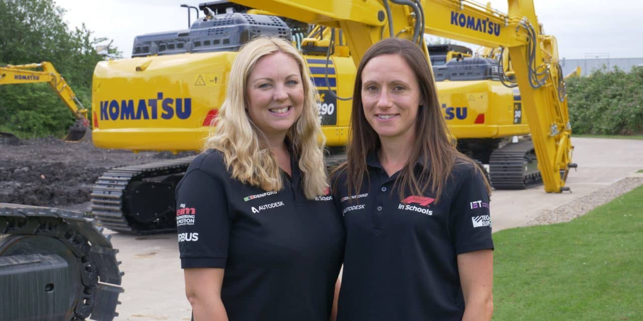 Komatsu staff take pole position