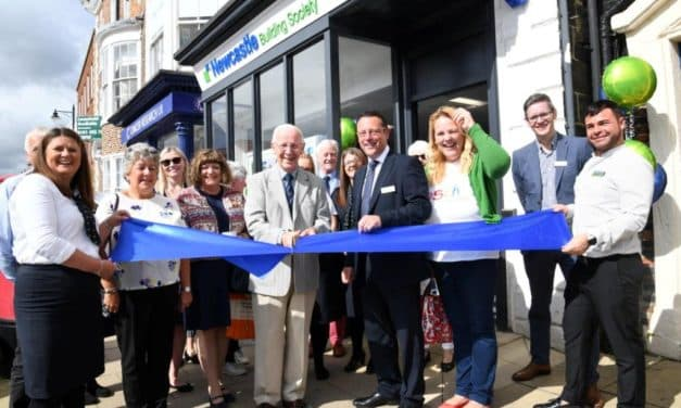 Bob Does The Job At Newcastle Building Society's New Stokesley Branch