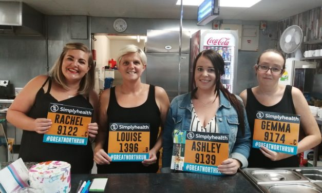 Cafe team running Great North Run for causes close to their hearts