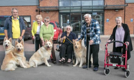 PUPPY LOVE IN REDCAR'S EXTRA CARE FACILITY
