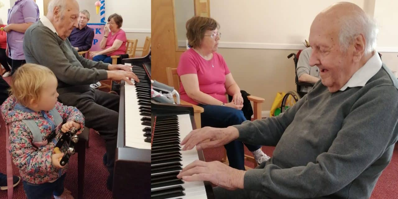 Duet between performers a century apart at Music Day event