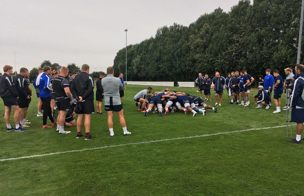 Newcastle Falcons train against Italian national team