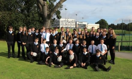 Young sports leaders line out with Six Nations' champion