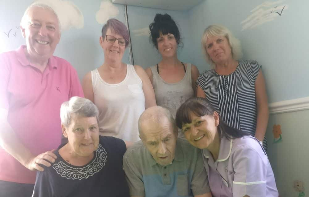 Pensioner fundraises for care home almost 300-miles away