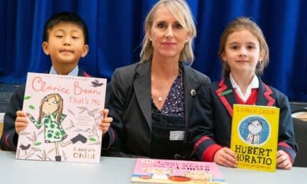 Top children's author introduces character from her new book to Yarm School audience