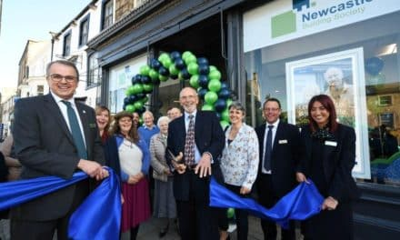 Charity Chair Alastair Cuts The Ribbon At New Barnard Castle Branch Of Newcastle Building Society