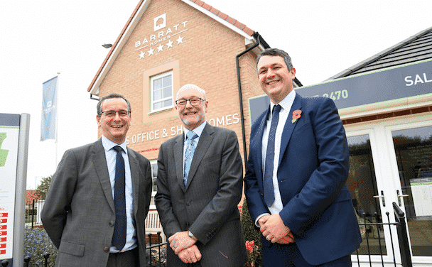 Barratt Homes welcomes Alex Cunningham MP to Stockton-on-Tees site