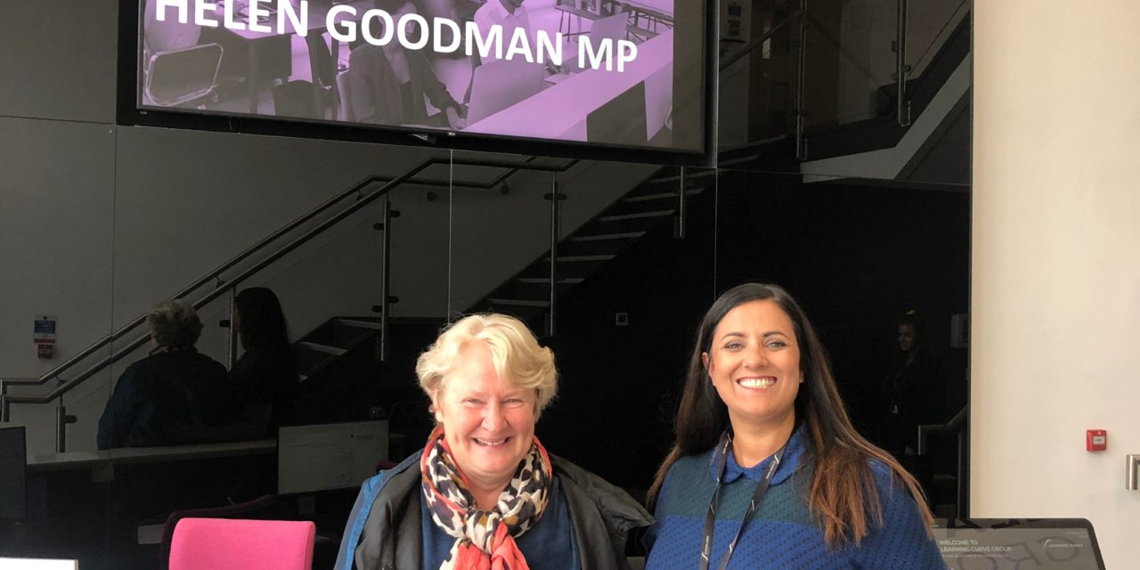 Helen Goodman MP visits Leading Training Organisation Learning Curve Group