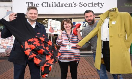 0800 Repair Managing Director donates man he won at a fundraising auction to Sunderland charity shop