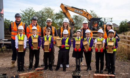 School kids get taste of construction as Wharrier Street development begins