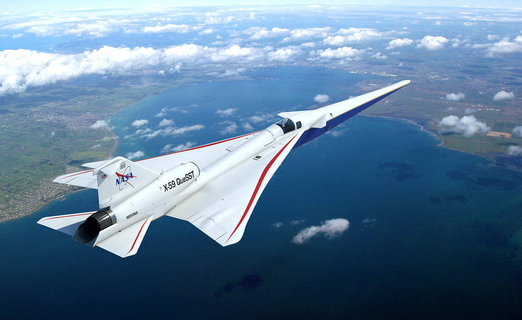 NASA's X-59 QueSST Airplane Takes Shape at Lockheed Martin Skunk Works