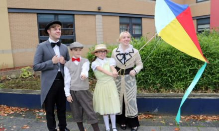"""Let's go fly a kite!"" as students prepare to stage Mary Poppins"
