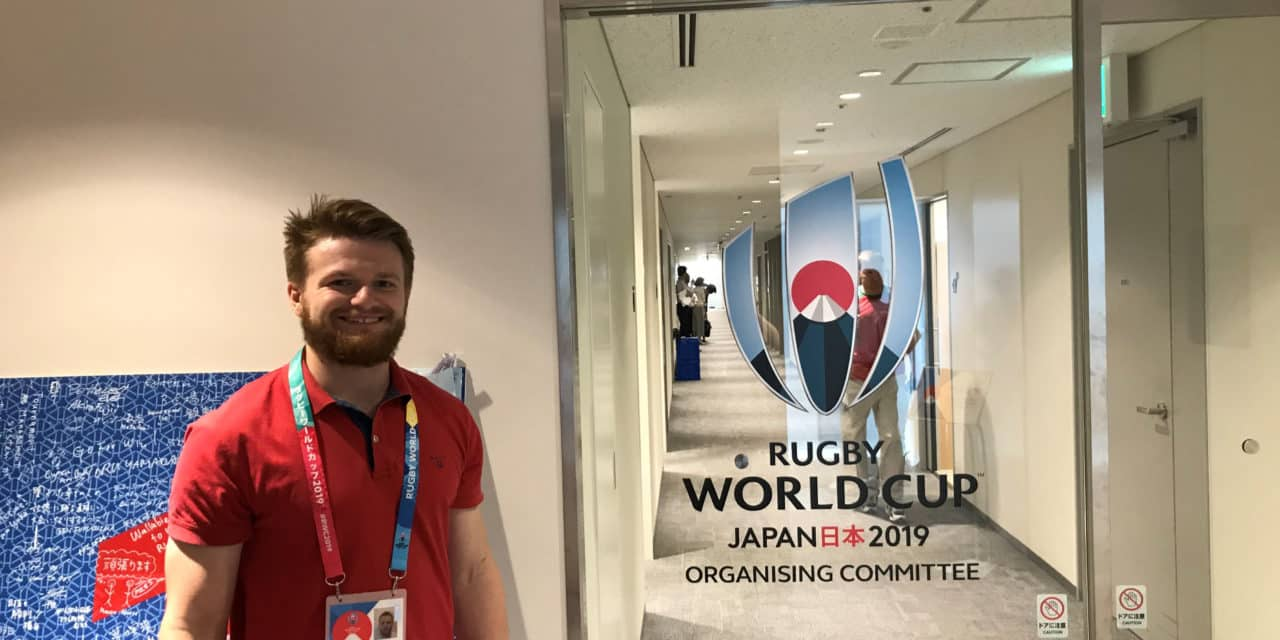 England V South Africa: Graduate tackles Rugby World Cup final