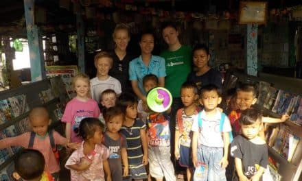 Young teachers (and their children) take education to Cambodia