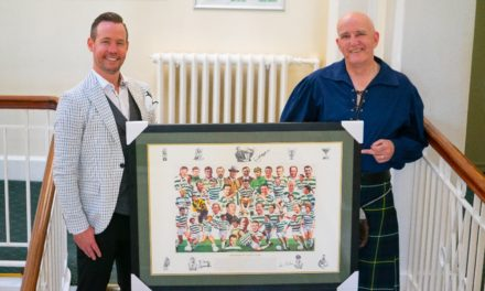Flame Heating Group marks Danny's retirement with special gift
