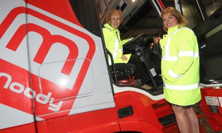 Business Secretary Andrea Leadsom tours Moody Logistics