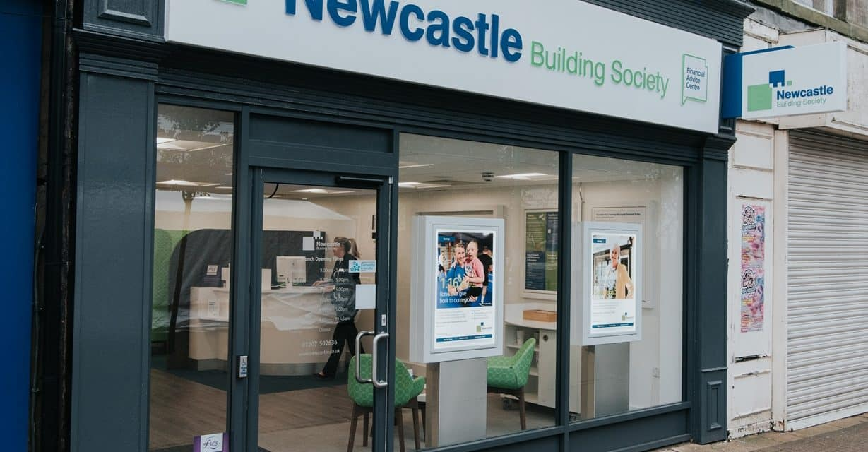 Local Businessman Barry Set To Cut The Ribbon at Newcastle Building Society's New Consett Branch