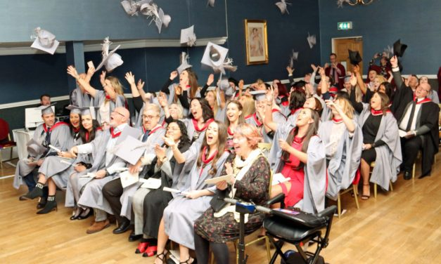 Students flying high at graduation ceremony