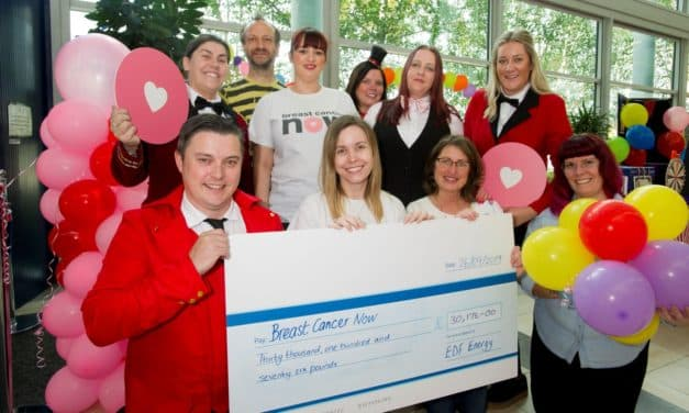 EDF Energy employees break fundraising targets for Breast Cancer Now