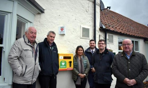 Banks Renewables Provides Spark For Great Stainton Defibrillator Campaign