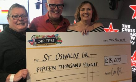 Chris Evans festival donates to charity supporting bereaved children in North East