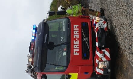 Fire Crews On Site At Shotton Surface Mine For Industrial Training Exercise
