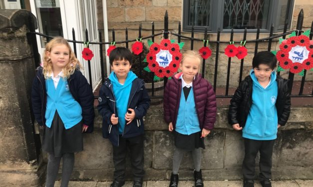 Housing association pays tribute to the fallen with poppies made by local school