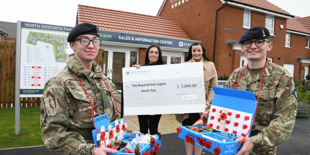 Housebuilder supports The Royal British Legion North East with funding initiative