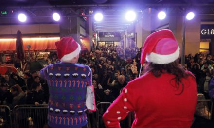 Spectacular switch on for Manor Walks Christmas Lights