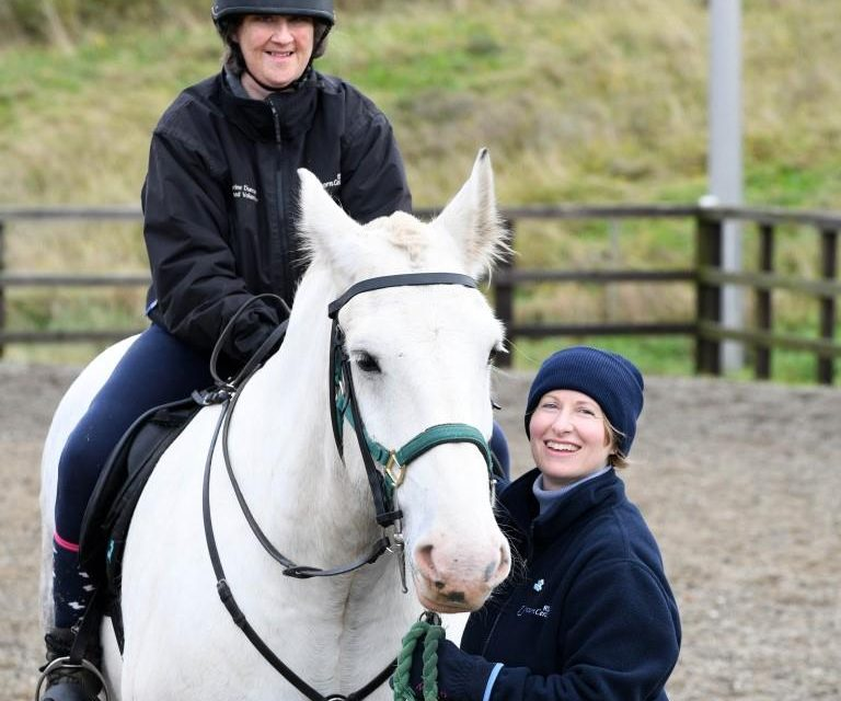 Caesar Conquering Hearts At Middlesbrough Riding For The Disabled Centre