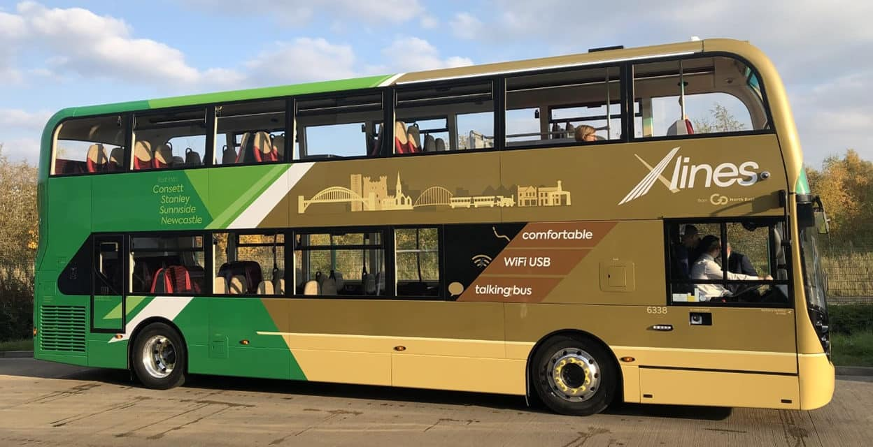 £720,000 investment from Go North East in state of the art environmentally friendly buses for its X30 route