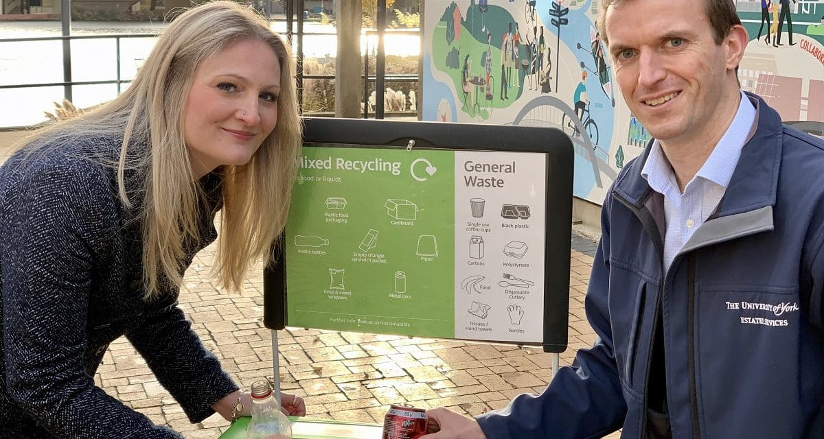 Yorwaste help University of York to achieve record recycling rates