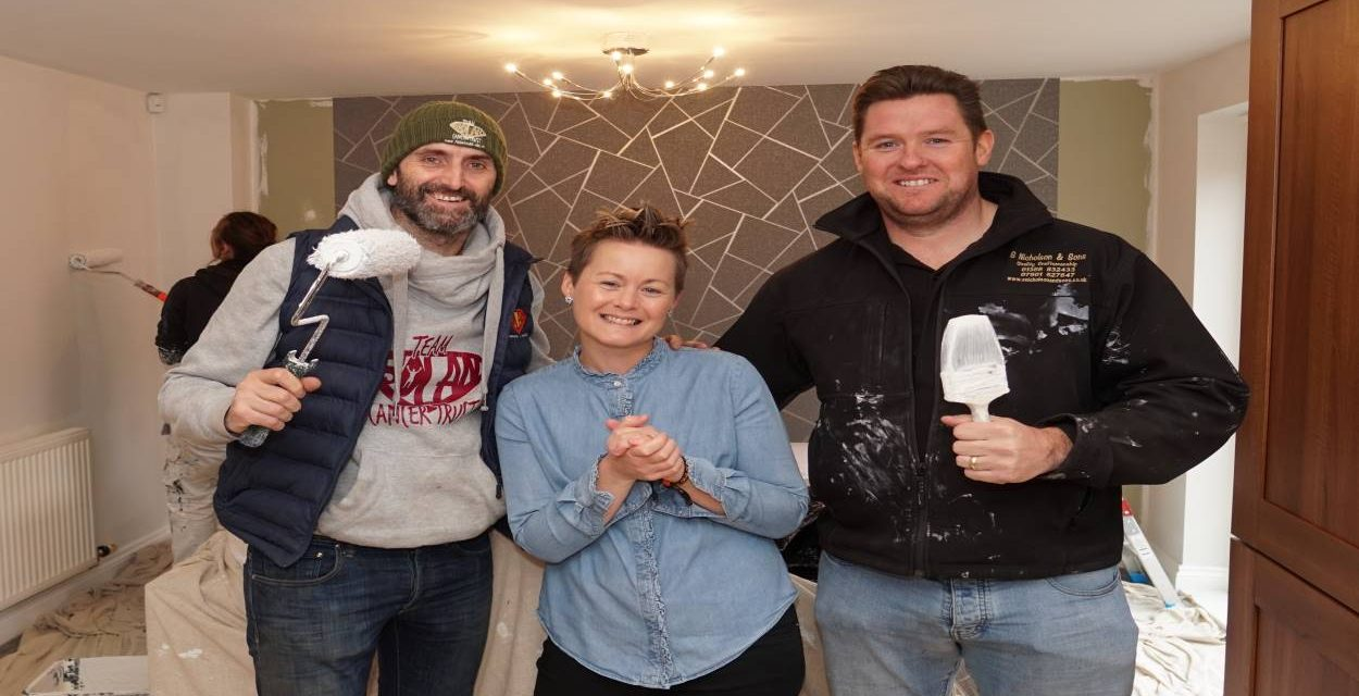 BRAVE NEWTON AYCLIFFE MUM GETS KITCHEN MAKEOVER THANKS TO LOCAL CANCER CHARITY