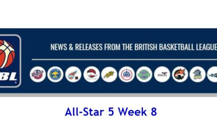 British Basketball League: All-Star 5 Week 8