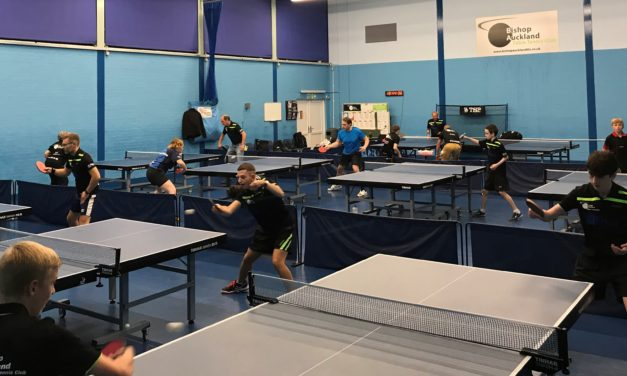 New community table tennis centre for Bishop Auckland Club.
